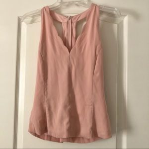 Nude Pink Scalloped Top